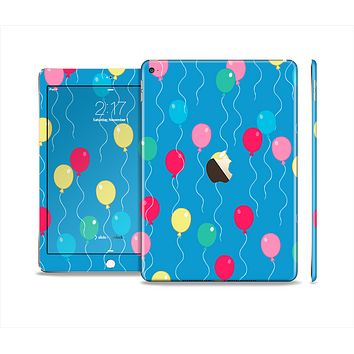 The Blue With Colorful Flying Balloons Skin Set for the Apple iPad Pro