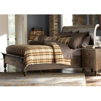 Liberty Furniture Southern Pines Storage Bed in Bark Finish