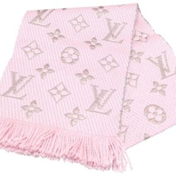 Louis Vuitton Pink Logomania Wool Scarf/Wrap Scarf/Wrap