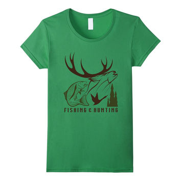 Fishing And Hunting Trout Deer Duck Outdoorsman T-Shirt