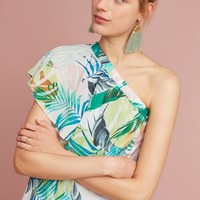 Feuilles One-Shoulder Blouse