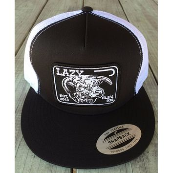 """Lazy J Black and White Elevation Hereford Patch Cap (4"""")"""