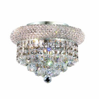 Adele - Flush Mount (3 Light Modern Flush Mount Crystal Chandelier) - 1530F10