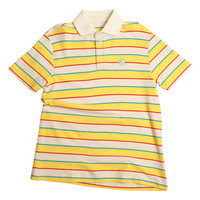 ERIC STRIPED POLO ORANGE/WHITE/PINK/BLUE