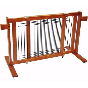 Freestanding Wood/Wire Pet Gate Small Span