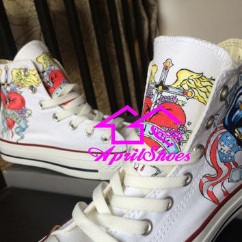 Custom Converse Shoes Hand Painted Kicks for Men or Women