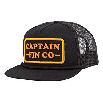 CAPTAIN FIN Patrol Mens Trucker Hat, Black