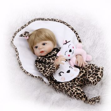 Silicone Baby - Reborn Full Body Doll - Baby Girl - Animal Prints