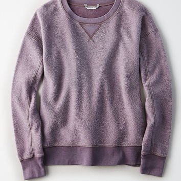 AE Cozy Inside & Out Sweatshirt, Deep Plum