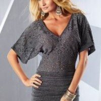 Metallic sweater dress in the VENUS Line of Dresses for Women