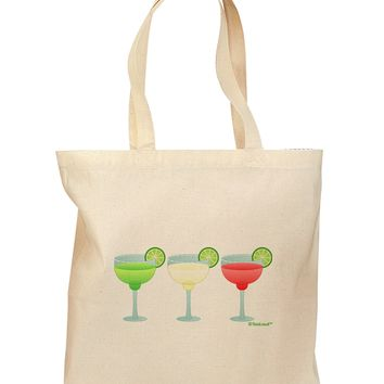 Margaritas - Mexican Flag Colors - Cinco de Mayo Grocery Tote Bag by TooLoud