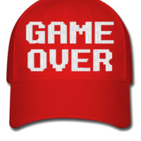 game over embroidery hat - Flexfit Baseball Cap