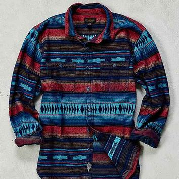 CPO Blanket Stripe Jacquard Flannel Button-Down Shirt
