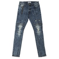 KNEE DETAIL DENIM PANTS
