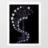 Whirl Tree Art Print by ES Creative Designs