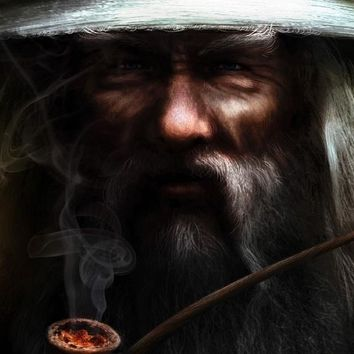DIY frame Wizard Lotr Lord Of The Rings Movie Gandalf Smoking Poster Fabric Silk Fantasy Art Posters And Prints For Home Decor