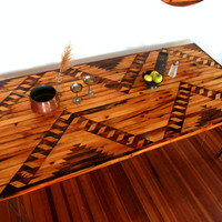 Navajo Design Reclaimed Wood Dining table