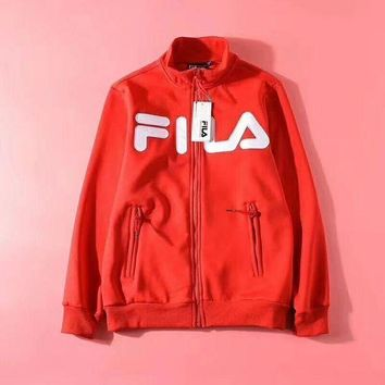 MDIGUX5 FILA Woman Men Fashion Cashmere Cardigan Jacket Coat-1
