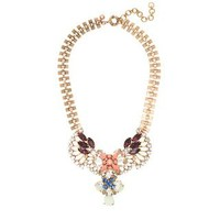 Crystal fan necklace - jewelry - Women's new arrivals - J.Crew