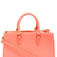 Brights Out Neon Coral Handbag