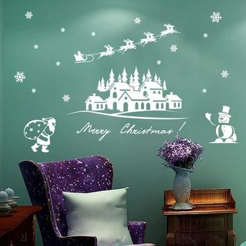 Elegant Christmas Holiday Decorative Wall Stickers