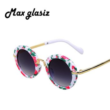 Fashion Round Kids Sunglasses Children Sun Glasses Anti-uv Baby Vintage Eyeglasses Girl Cool 6Color oculos infantil de sol