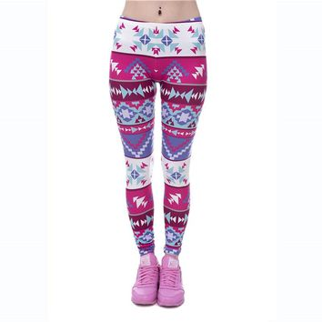 New Arrival Workout Leggings for Women Sportswear Casual Pants Ladies Sexy Slimming Leggings Fitness Women Printed Leggings