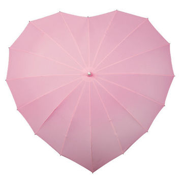 Pink Heart Umbrella