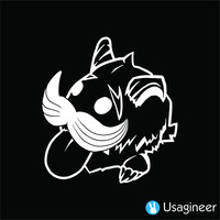 LEAGUE OF LEGENDS PORO GAME DECAL STICKER