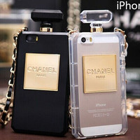Perfume bottle chain phone case for iphone 4 4s iphone 5 5s iphone 5c iphone 6 plus case Samsung galaxy s3 s4 s5 Samsung note 2 note 3 note4