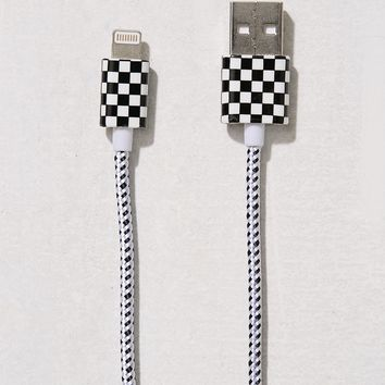 Checkerboard Lightning Cable | Urban Outfitters
