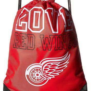 NHL Detroit Red Wings 2014 Love Drawstring Backpack, Red , NEW!