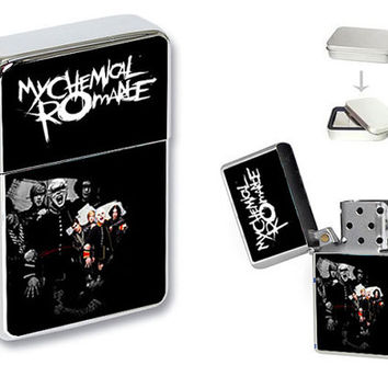 NEW My Chemical Romance Black Flip Top Lighter + Gift Box