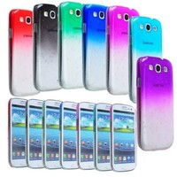 BeeShine Bundle of 7 Color 3D Waterdrop Raindrop Design Hard Skin Snap on Case Back Cover For Samsung Galaxy S3 i9300 (Clear Smoke, Clear Sky Blue, Clear Dark Blue, Clear Red, Clear Hot Pink, Clear Green, Clear Purple)