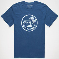 Vans Recycled Surf Palms Mens T-Shirt Heather Blue  In Sizes