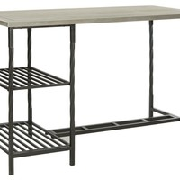 Jayden Desk With Shelves French Grey