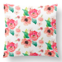 Throw Pillow Cover in Feathers in Dream Floral