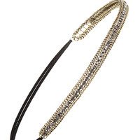 Rhinestone Layered Chain Headband