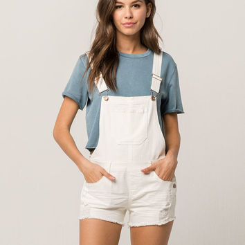 RSQ White Denim Womens Shortalls