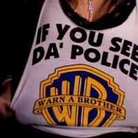 police, shirt, singlet, warn a brother - inspiring picture on Favim.com