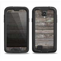 The Rough Wooden Planks V4 Samsung Galaxy S4 LifeProof Nuud Case Skin Set