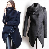 Winter Trench Coat Woolen Women Fashion