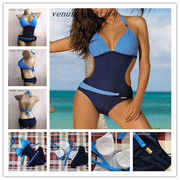 One Piece Swimsuit Swimwear Women Brazilian Bandage Sexy Beachwear Bodysuit Monokini
