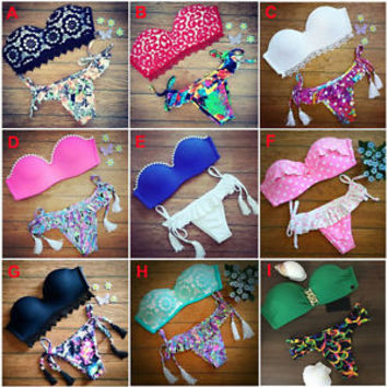 2015 Women Bikini Set Push-up Padded Bra Swimsuit Swimwear Triangle Bathing Suit