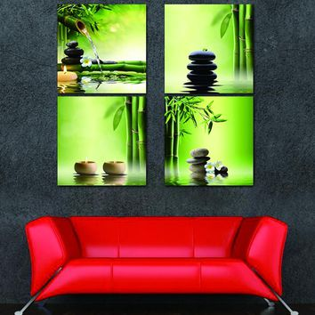 4 Panel Zen Garden Wall Art-hds
