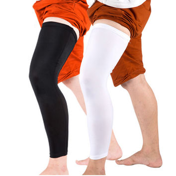 Sport Basketball Leggings Protectors Calf Compression Long Leg Sleeve Warmers Cycling Running Football Knee Guards Knee Pads