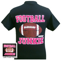 Girlie Girl Originals Football Junkie Pink Bright T Shirt