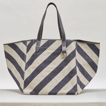 Canvas Stripe Belt Tote by J.W. Anderson- La Garçonne