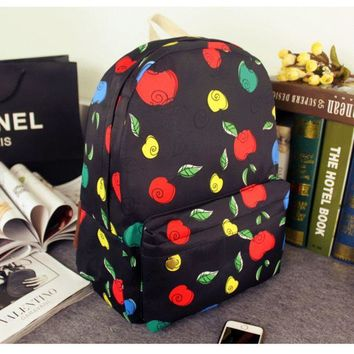 ONETOW Apple Casual Korean Canvas Backpack = 4887869380