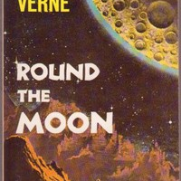 Round The Moon, Jules Verne, Vintage Paperback Book, Airmont #CL-182, Classic Science Fiction